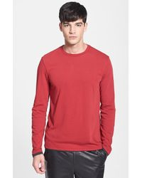 Vince Double Layer Crewneck T-Shirt red - Lyst