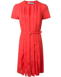 Blumarine Belted Dress - Lyst