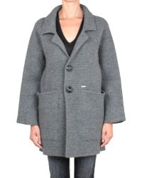 DSquared² Oversized Wool and Cashmere Coat - Lyst