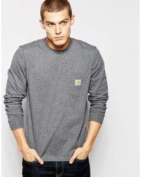 Carhartt WIP - Pocket Long Sleeve T-shirt - Lyst