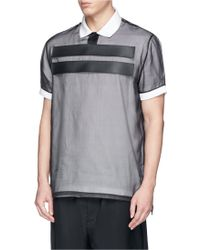 Givenchy Band Silk Organza Polo Shirt black - Lyst