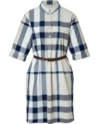 Burberry Brit Cotton Check Shirtdress - Lyst