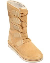 Sorel 30mm The Campus Shearling Boots - Lyst
