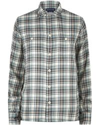 Ralph Lauren Blue Label Suzie Plaid Camp Shirt - Lyst