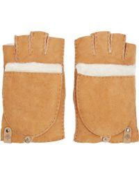 Mackage - Tan Shearling Orea Gloves - Lyst