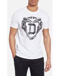 Diesel Arethas T-Shirt white - Lyst