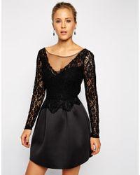 Asos Lace Top Premium Prom Dress - Lyst