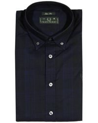 Fred Perry Shirt Check Botton Down Super Slim Fit - Lyst