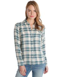 Lucky Brand Flannel Plaid Button-Front Shirt - Lyst