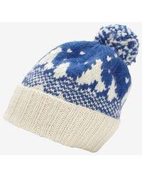 Eugenia Kim Pom Top Snow Knit Beanie Blue - Lyst
