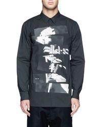Helmut Lang Segmented Rose Print Poplin Shirt - Lyst