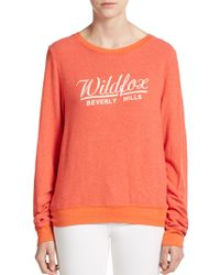 Wildfox Beverly Hills Graphic Pullover - Lyst