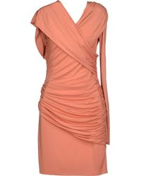Elie Saab Short Dress pink - Lyst