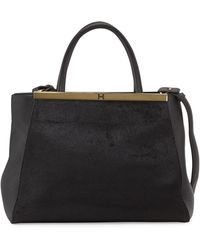 Halston Heritage Semi-constructed Leather Satchel - Lyst