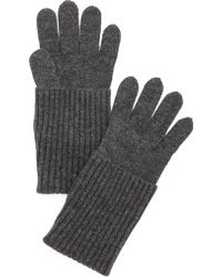 Rag & Bone Cece Gloves  Charcoal - Lyst
