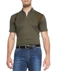 Alexander McQueen Harness Cotton Polo - Lyst