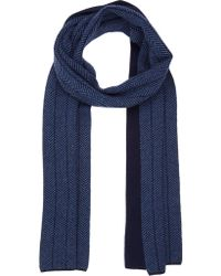 Barneys New York Cashmere Reversible Scarf - Lyst