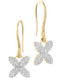 John Hardy Kawung 18K Pave Diamond Drop Earrings - Lyst
