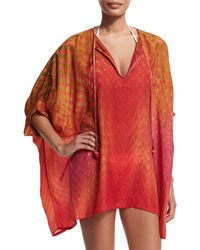 Florabella | Cristallo Half-sleeve Short Caftan Coverup | Lyst