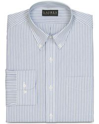 Lauren by Ralph Lauren Slimfit Multistripe Dress Shirt - Lyst
