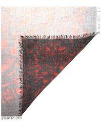 Alexander McQueen Printed Silkchiffon Scarf - Lyst
