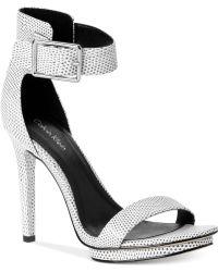 Calvin Klein Womens Vivian High Heel Sandals - Lyst