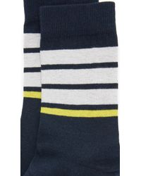 French Trotters - Stripe Socks - Lyst