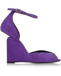 Pierre Hardy Sandals purple - Lyst