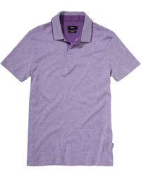 Hugo Boss Ateleta | Slim Fit, Cotton Linen Blend Polo Shirt - Lyst