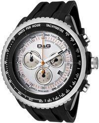 Dolce & Gabbana - Mens Sir Chronograph Silver Dial Black Rubber Dg Watch - Lyst