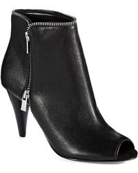 Nine West Laneta Peep Toe Booties - Lyst