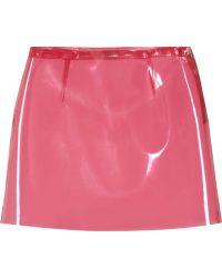Miu Miu Aline Vinyl Mini Skirt - Lyst