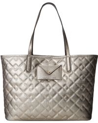 Marc By Marc Jacobs Metropolitote Quilted Metallic Tote 48 - Lyst