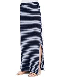 Splendid Venice Sideslit Striped Maxi Skirt - Lyst