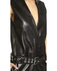 Mugler - Sleeveless Jumpsuit - Black - Lyst