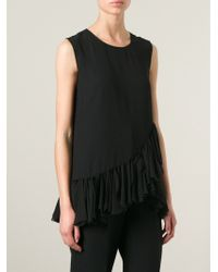 DKNY Ruffled Hem Top - Lyst