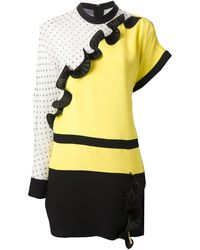Emanuel Ungaro Tricolour Blouse Dress - Lyst