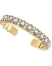 Dannijo Boxerina Alla Antiqued Golden Crystal Cuff - Lyst