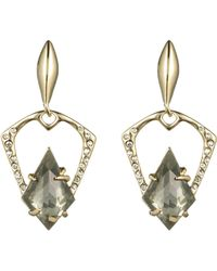 Alexis Bittar Kinetic Gold Encrusted Post Earring gold - Lyst