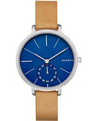 Skagen - Skw2355 Women's Hagen Leather Strap Watch - Lyst