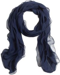 Brooks Brothers Silk Chiffon Wrap - Lyst
