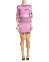 Donna Morgan Shapely Shift Dress - Lyst