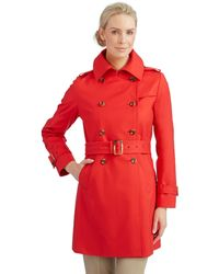 Trina Turk Double Breasted Trench Coat - Lyst