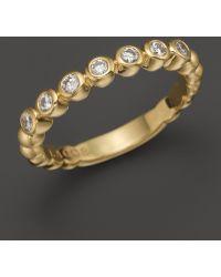 Lagos 18K Gold Beaded And Diamond Ring - Lyst