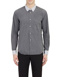 Comme des Garçons Contrast Shirt gray - Lyst