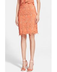 Alice + Olivia Women'S Alice + Olivia 'Farrel' Lace Pencil Skirt - Lyst