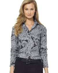 Ralph Lauren Lauren Paisley Print Shirt - Lyst
