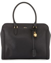 Alexander McQueen Medium Padlock Zip-Around Satchel Bag - Lyst