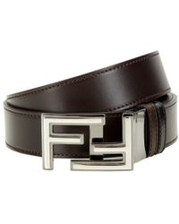 Fendi - Reversible Leather Belt - Lyst