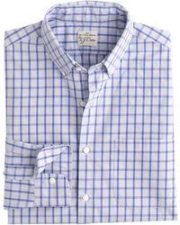 J.Crew Tall Secret Wash Shirt In Vintage Peri Check - Lyst